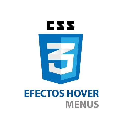CCS3: Efectos hover para tus menús